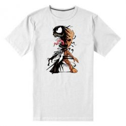 Чоловіча стрейчева футболка Groot and Venom