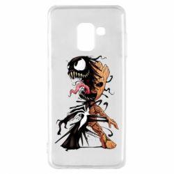 Чохол для Samsung A8 2018 Groot and Venom