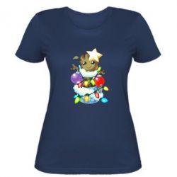 Жіноча футболка Groot in the garland