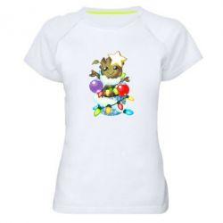 Жіноча спортивна футболка Groot in the garland