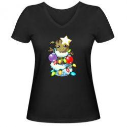 Жіноча футболка з V-подібним вирізом Groot in the garland
