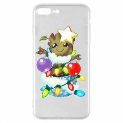 Чохол для iPhone 7 Plus Groot in the garland