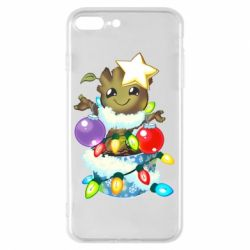 Чохол для iPhone 8 Plus Groot in the garland