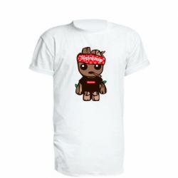 Удлиненная футболка Groot smokes