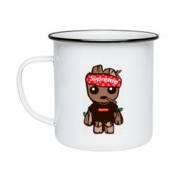 Кружка эмалированная Groot smokes
