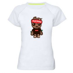 Женская спортивная футболка Groot smokes