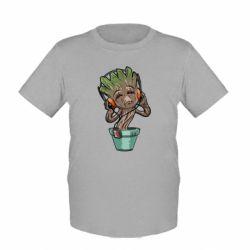 Детская футболка Groot - FatLine