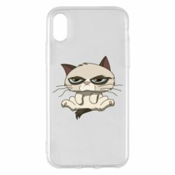 Чохол для iPhone X/Xs Grumpy Cat Art nope