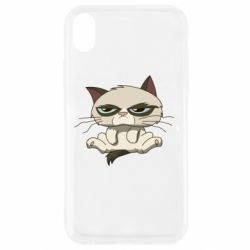 Чохол для iPhone XR Grumpy Cat Art nope