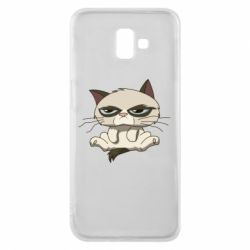 Чохол для Samsung J6 Plus 2018 Grumpy Cat Art nope