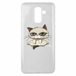 Чохол для Samsung J8 2018 Grumpy Cat Art nope
