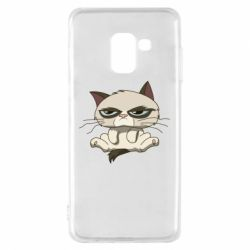 Чохол для Samsung A8 2018 Grumpy Cat Art nope