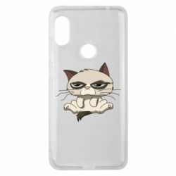 Чохол для Xiaomi Redmi Note Pro 6 Grumpy Cat Art nope
