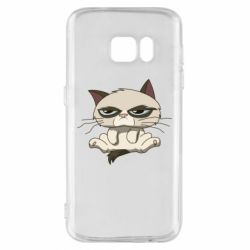 Чохол для Samsung S7 Grumpy Cat Art nope