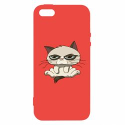 Чохол для iphone 5/5S/SE Grumpy Cat Art nope