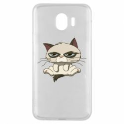 Чохол для Samsung J4 Grumpy Cat Art nope
