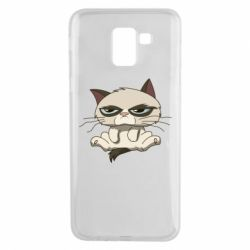Чохол для Samsung J6 Grumpy Cat Art nope