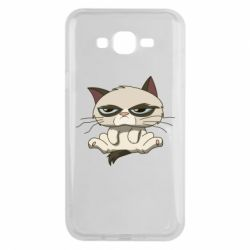 Чохол для Samsung J7 2015 Grumpy Cat Art nope