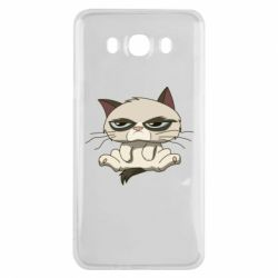 Чохол для Samsung J7 2016 Grumpy Cat Art nope