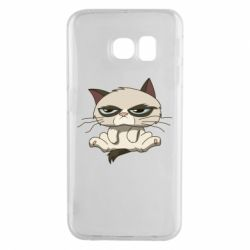 Чохол для Samsung S6 EDGE Grumpy Cat Art nope