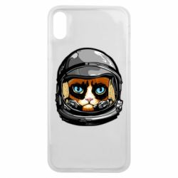 Чехол для iPhone Xs Max Grumpy Cat Astronaut
