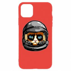 Чехол для iPhone 11 Grumpy Cat Astronaut