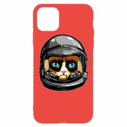 Чехол для iPhone 11 Pro Grumpy Cat Astronaut