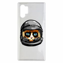 Чехол для Samsung Note 10 Plus Grumpy Cat Astronaut