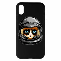 Чехол для iPhone X/Xs Grumpy Cat Astronaut