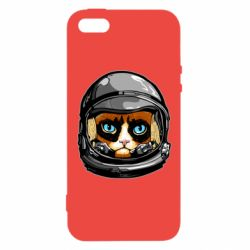 Чехол для iPhone5/5S/SE Grumpy Cat Astronaut