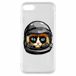 Чехол для iPhone 7 Grumpy Cat Astronaut