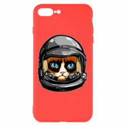 Чехол для iPhone 7 Plus Grumpy Cat Astronaut