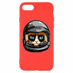 Чехол для iPhone 8 Grumpy Cat Astronaut