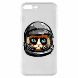Чехол для iPhone 8 Plus Grumpy Cat Astronaut