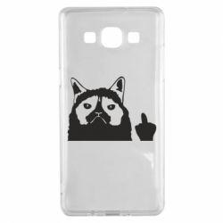 Чохол для Samsung A5 2015 Grumpy cat F**k Off