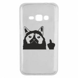 Чохол для Samsung J1 2016 Grumpy cat F**k Off