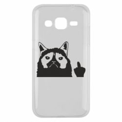Чохол для Samsung J2 2015 Grumpy cat F**k Off
