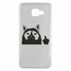 Чохол для Samsung A7 2016 Grumpy cat F**k Off
