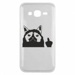 Чохол для Samsung J5 2015 Grumpy cat F**k Off