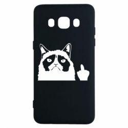 Чохол для Samsung J5 2016 Grumpy cat F**k Off