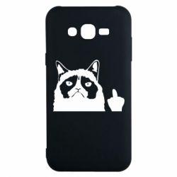 Чохол для Samsung J7 2015 Grumpy cat F**k Off