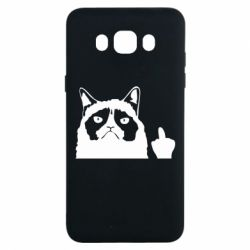 Чохол для Samsung J7 2016 Grumpy cat F**k Off