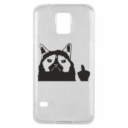Чохол для Samsung S5 Grumpy cat F**k Off