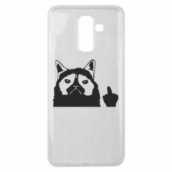 Чохол для Samsung J8 2018 Grumpy cat F**k Off