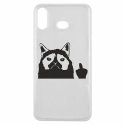 Чохол для Samsung A6s Grumpy cat F**k Off