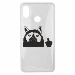 Чохол для Xiaomi Mi Max 3 Grumpy cat F**k Off