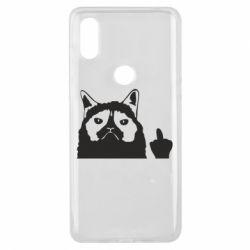 Чохол для Xiaomi Mi Mix 3 Grumpy cat F**k Off