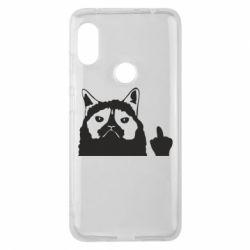 Чохол для Xiaomi Redmi Note Pro 6 Grumpy cat F**k Off