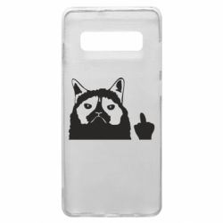 Чохол для Samsung S10+ Grumpy cat F**k Off
