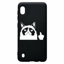 Чохол для Samsung A10 Grumpy cat F**k Off